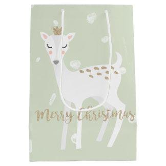 Sac mignon de cadeau de Noël du vert sauge | des