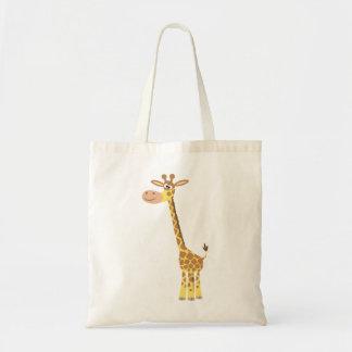 Sac mignon de girafe de bande dessinée
