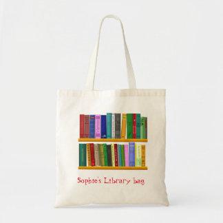 Sac mignon nommé de bibliothèque du livre de