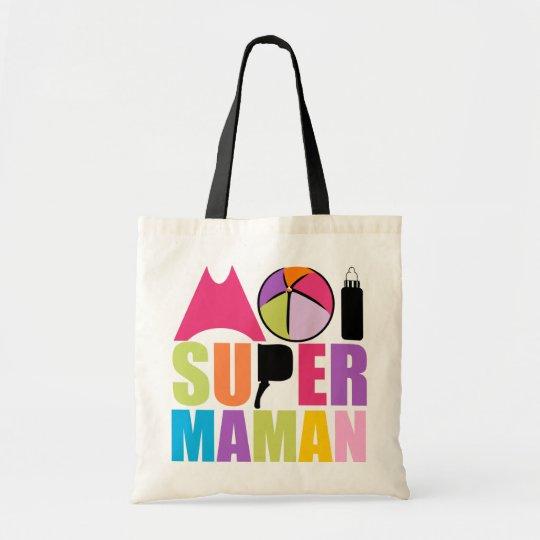 Sac Moi Super Maman - Logo Couleurs Douces