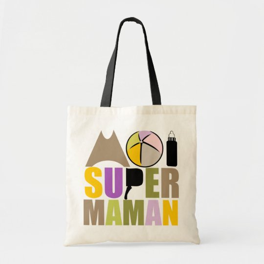 Sac Moi Super Maman - Logo Couleurs Nature
