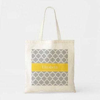 Sac Monogramme marocain de nom de l'ananas #5 de blanc