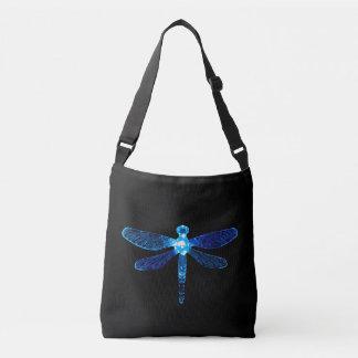 Sac mortuaire bleu à croix de libellule