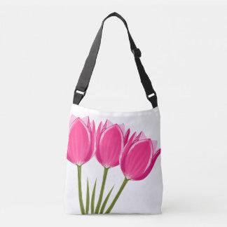 Sac mortuaire croisé à tulipes