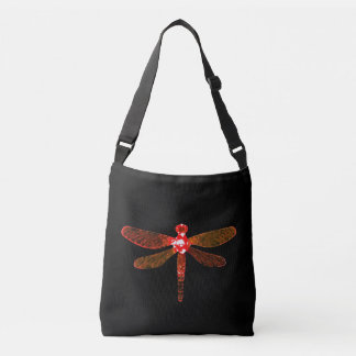Sac mortuaire rouge à croix de libellule