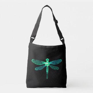 Sac mortuaire vert à croix de libellule