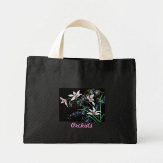 Sac, motif blanc d'orchidées sac de toile