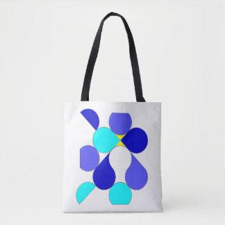 Sac motif géométrique bleu et jaune