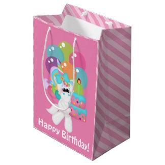 sac moyen de cadeau de licorne d'anniversaire de