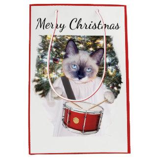 Sac moyen de cadeau de vacances de Carol de chaton