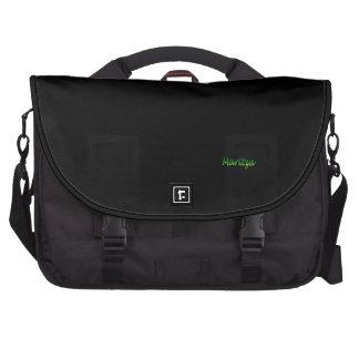 Sac noir d'ordinateur portable de style d'Angela Sacoche Pour Ordinateurs Portables