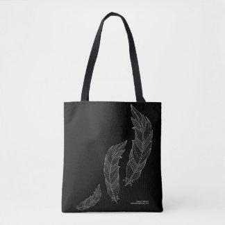 Sac noir gris d'ensemble floral d'art d'automne de