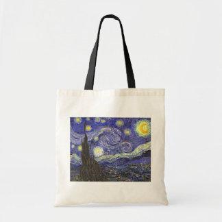 Sac Nuit étoilée de Van Gogh, paysage vintage de