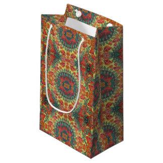 sac orange de cadeau de champignon