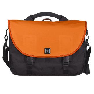 Sac orange et noir élégant d'ordinateur portable sacs ordinateur portable