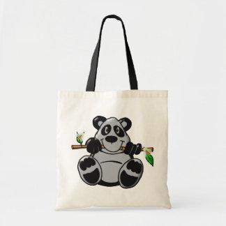 Sac Panda mignon de bébé mangeant le bambou