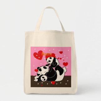 Sac Pandas mignons de maman et de bébé de famille de