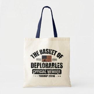 Sac Panier officiel de membre de Deplorables
