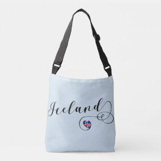 Sac personnalisable de coeur de l'Islande,
