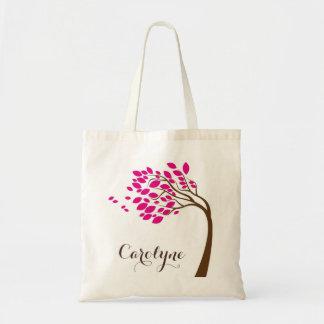 Sac personnalisé par fleurs de cerisier roses