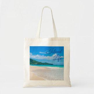 Sac Photo tropicale de plage de la belle vie d'île