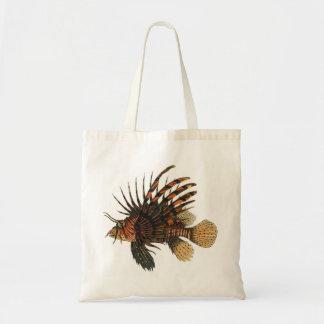 Sac Poissons vintages de Lionfish, animal marin de la