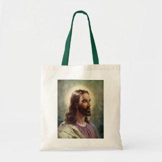 Sac Portrait religieux vintage, Jésus-Christ avec le