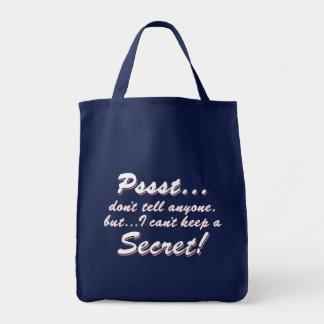 Sac Pssst… je ne peux pas garder un SECRET (blanc)