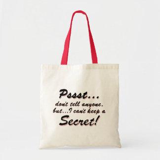 Sac Pssst… je ne peux pas garder un SECRET (le noir)