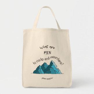 Sac Quels sont des hommes aux roches et aux montagnes