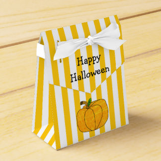 Sac rayé blanc orange de faveur de Halloween de Ballotins