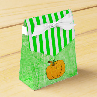 Sac rayé de faveur de vert de chaux de Halloween Ballotins