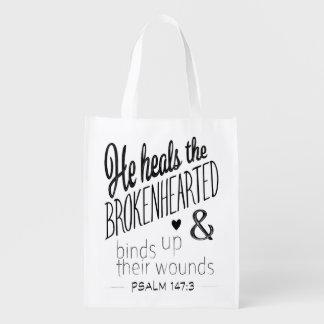 Sac Réutilisable 147:3 de psaume il guérit le navré de douleur
