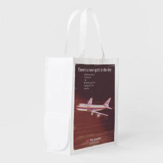 Sac Réutilisable 1977 affiches vintages d'avion de ligne de style