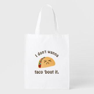 Sac Réutilisable Accès de taco 'il humour drôle de calembour de
