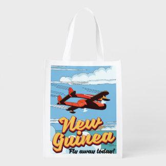 Sac Réutilisable Affiche d'aventure de la Nouvelle-Guinée