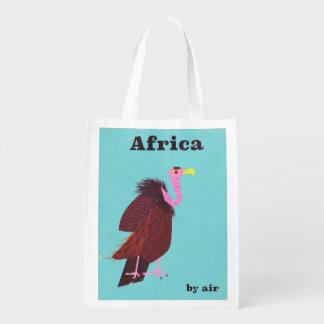 Sac Réutilisable Affiche vintage de transports aériens de vautour