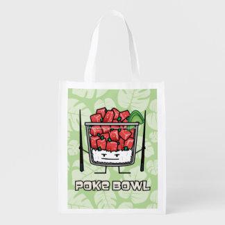 Sac Réutilisable Aku de baguettes de salade de poisson cru d'Hawaï