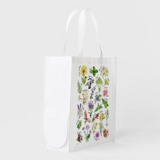Sac Réutilisable Alphabet de plantes et d'herbes