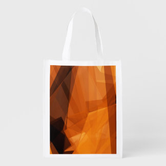 Sac Réutilisable Arrière - plan abstrait d'orange pour la