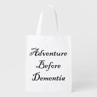 Sac Réutilisable Aventure avant sac drôle de voyageur de sac