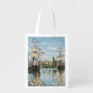 Sac Réutilisable Bateaux de Claude Monet | montant sur la Seine à
