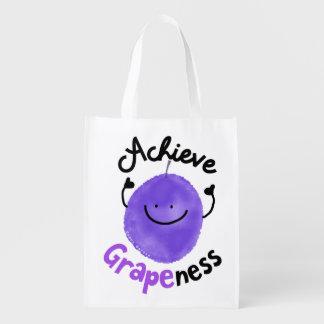 Sac Réutilisable Calembour positif de raisin - réalisez Grapeness