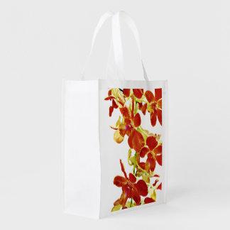 Sac Réutilisable Cascade d'orchidées oranges
