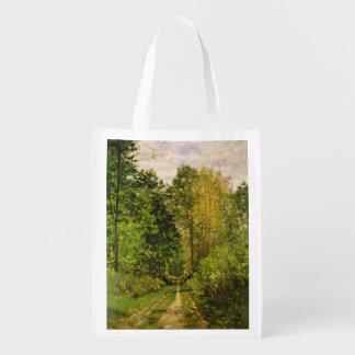 Sac Réutilisable Chemin boisé de Claude Monet |