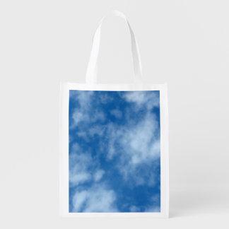 Sac Réutilisable Ciel bleu avec la photo de nuages