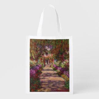 Sac Réutilisable Claude Monet | une voie dans le jardin de Monet