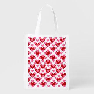 Sac Réutilisable Coeur d'amour de Valentine