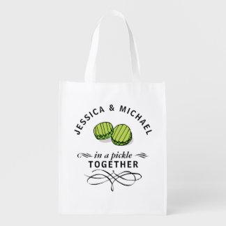 Sac Réutilisable Couples dans des conserves au vinaigre ensemble