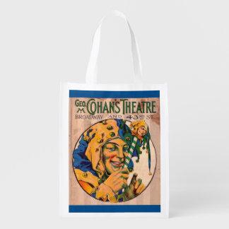 Sac Réutilisable couverture d'affiche du théâtre de Cohan des